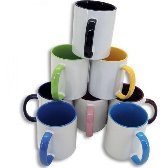 Tazas personalizadas con interior de color