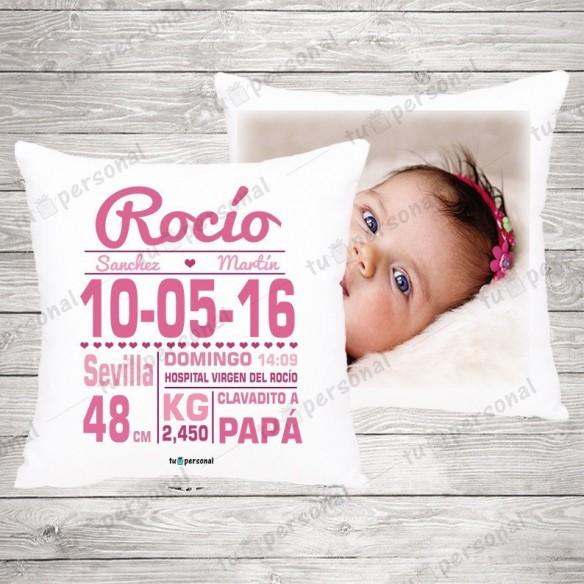 Cojín Nacimiento Rosa