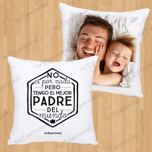 """Cojín Personalizado """"Mejor Papá del Mundo"""""""