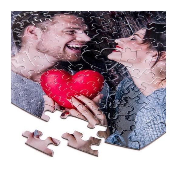 Puzzle personalizado en forma de corazón