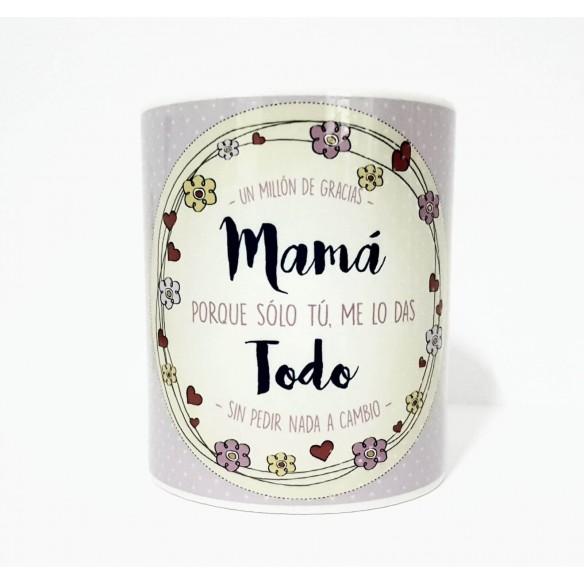 "Taza personalizada "" Gracias mamá"""