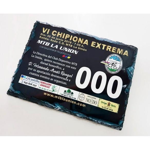 Placa personalizada piedra pizarra 30x20cm