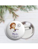 Chapa aguja comunión niña futbolista