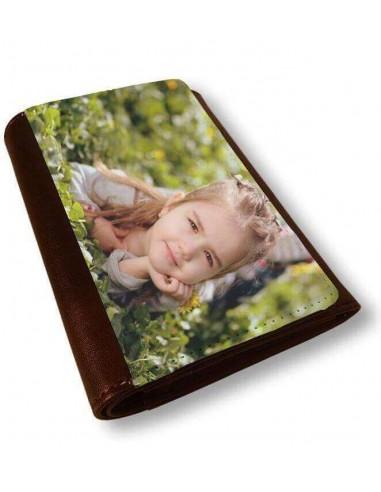 Cartera monedero marrón 14x10cm
