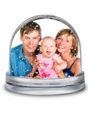 Bola de nieve personalizada con fotos